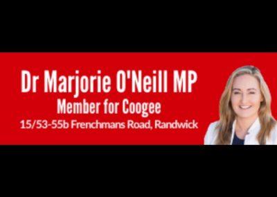DR MARJORIE O'NEILL MP